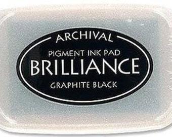 Tsukineko Brilliance GRAPHITE BLACK Archival Ink Pad