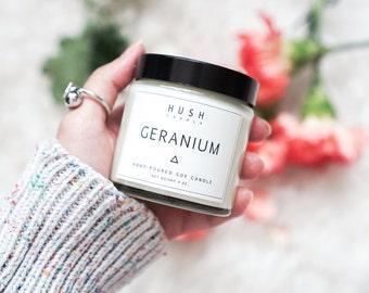 Geranium Essential Oil Candle
