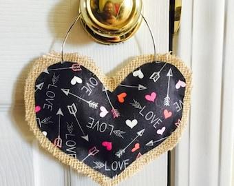 Valentine's day door handle hanger!  Would look great in your home!