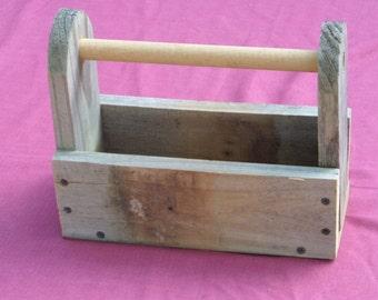Reclaimed wood trug