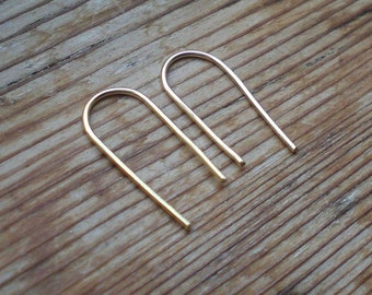 Tiny open earrings, minimal lightweight earrings, brass open earrings