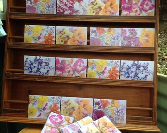 Pack of 7 flower cards