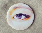 Pocket Mirror - Violet Eye Makeup Eyeliner Illustration Hand Mirror