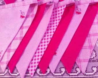 Princess pink bunting