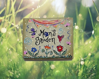 Garden stepping stone - Mom stepping stone - custom stepping stone - handmade stepping stone- personalized stepping stone - gift for women