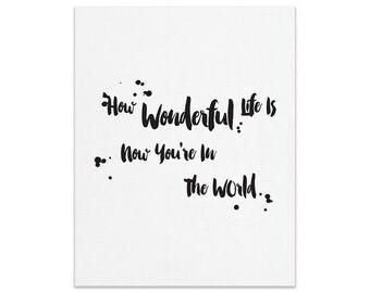 Now You're In The World Wall Print   Made In Australia