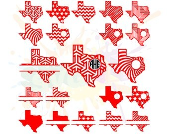 Texas SVG Files for Cutting State Cricut Designs - SVG Files for Silhouette - Instant Download