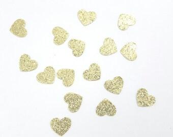 1/2 inch Gold Heart Confetti