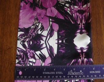 100% Silk Charmeuse Prints - Paradise Purple
