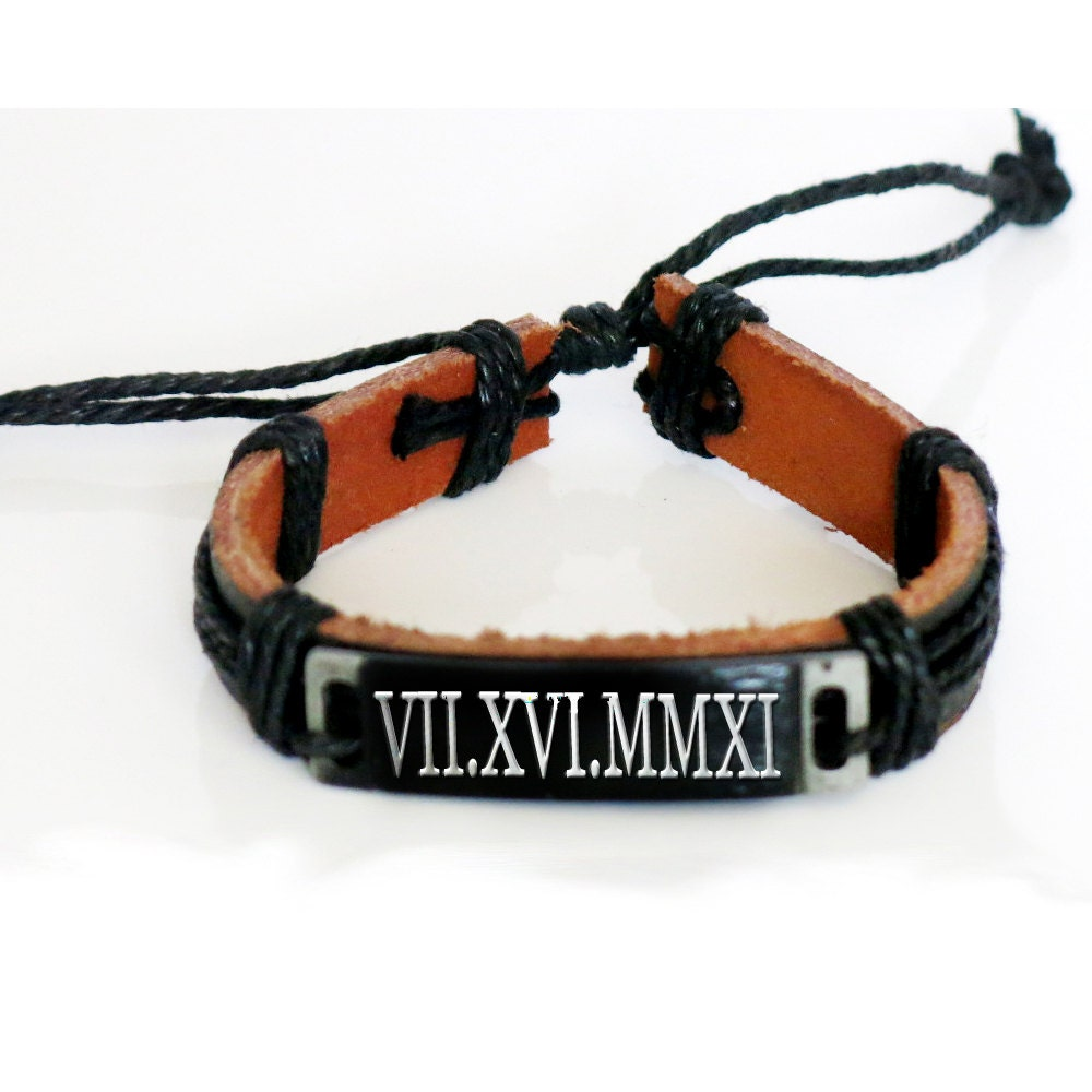 custom leather bracelet personalized name by newyorkcustommade