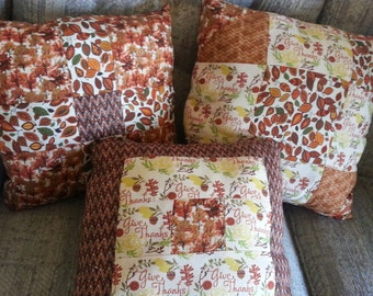 Give Thanks Quilted Pillow Set
