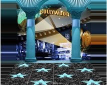 Formal Backdrop - Bollywood - High Quality Seamless Fabric with Floor (optional)