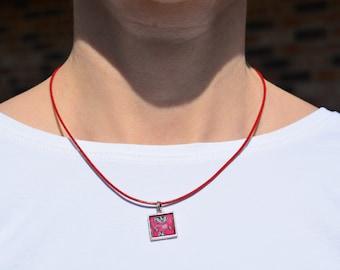 Red UW Badgers Necklace