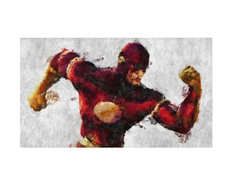 Flash Rug, 3 Designs, Hero Character, DC Comics, Geek Bedding, Children