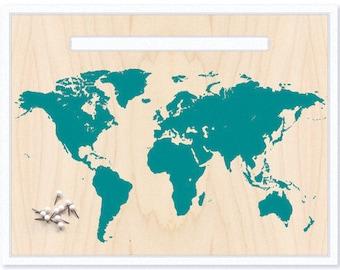 World Map & Pin Set. Push Pin Travel Map. World Map. Personalized Map. Travel Map. Map Art. Custom Map. Inspirational Map. Mounted Map. Gift