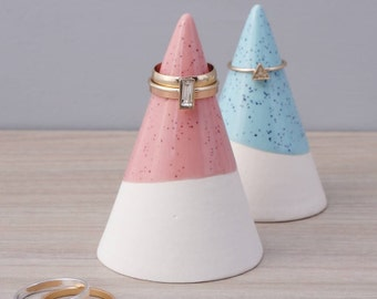 Speckled Pink Ceramic Ring Cone