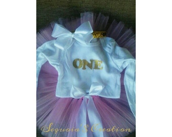 Baby 1st birthday tutu set