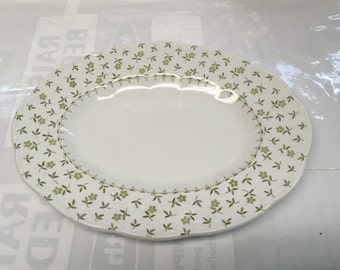 "English Staffordshire Sterling - FORGET ME NOT pattern - 12"" Serving Platter - J&G Meakin - England - Genuine hand engraving"