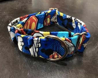 Flannel Superman Martingale Collar