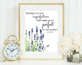 Jane Austen Emma quote printable digital download