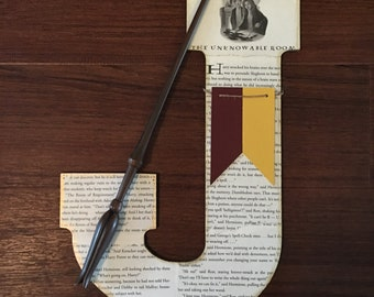 "Harry Potter 13"" Book Page Wall Letter with Chapter Illustration - Custom Made"