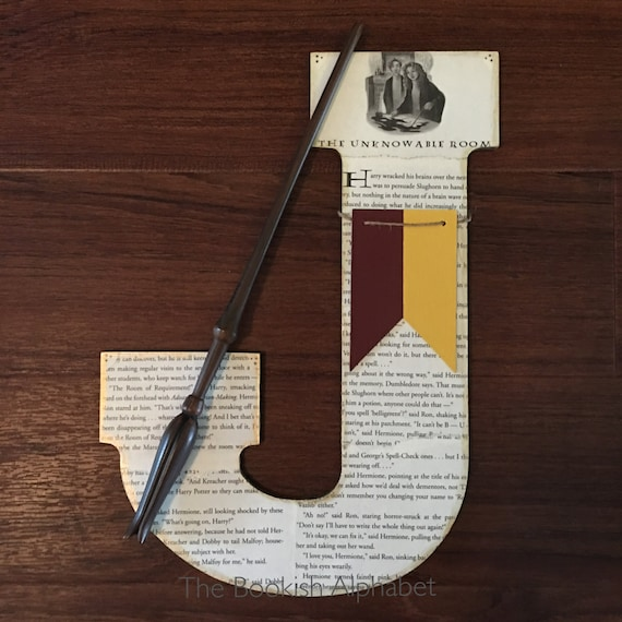 Harry Potter Book Page Wall Letter
