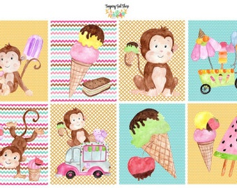 Sweet Monkey Planner Sticket Set