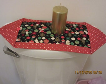 Toilet Tank Topper, Toilet Tank Runner, Mini-Table Runner, Mini-Entry Hall Runner, Mug Rug, Trivel, Coaster, Candle Mat