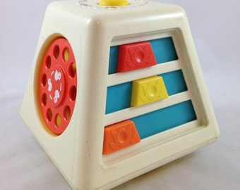 Fisher Price Turn and Learn Activity Center -  Vintage Fisher Price 1978 toy - Musical baby toddler toy -  Interactive educational toy