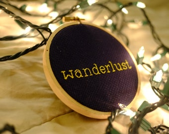 Wanderlust Cross Stitch - Completed