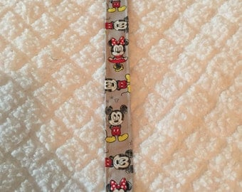 Mickey and Minnie Baby Pacifier Clip