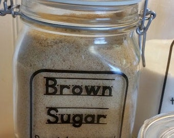 Brown Sugar Kitchen Canister / Brown Sugar Canister / Hermetic Jar / Kitchen Organization / Kid Kanister / Air Tight Canister