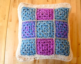 Knitted Cushion Cover Vintage Patchwork