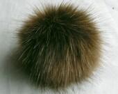 Size M (cold brown) faux fur pom pom 4.5 inches/ 12cm