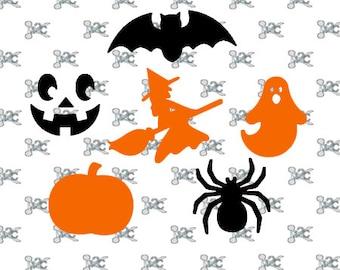 Halloween Svg digital cut file Bat , Ghost design , Pumpkin svg , Witch digital design , Pumpkin Face studio , Spider Svg Design
