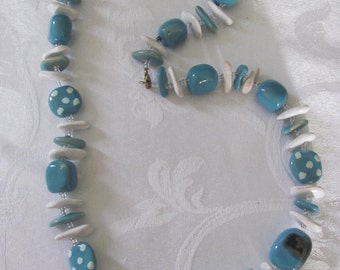 Kazuri bead necklace and bracelet