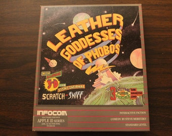 Leather Goddesses of Phobos Apple 2 Game