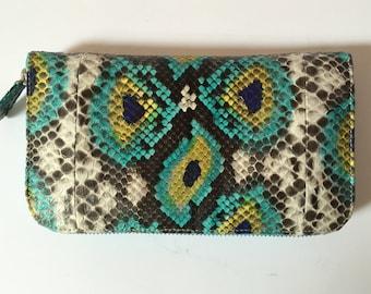 New Stunning Genuine Python Leather Wallet