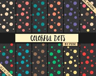 BUY 3 FOR 8 USD, Grunge dots digital paper pack, dots pattern, digital scrapbook papers, soft grunge, printable, instant download