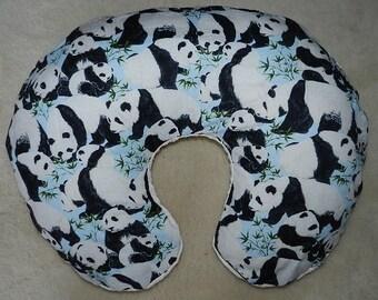 NEW Panda's Cotton/Minky Ivory Boppy Cover