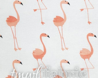 Woven Fabric - Brother Sister Designs Coral Flamingos - Fat Quarter Yard +