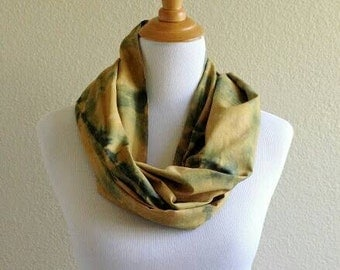 Hand Painted Scarf, Hand dyed Scarf, Summer Scarf, Cotton Scarf, Light weight Scarf, Summer Accessories, Yellow Scarf, Shibori Scarf, Scarf