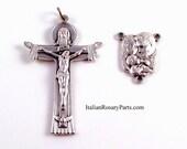 Centre de chapelet et Crucifix ensemble Sainte famille Centre avec Trinity Crucifix | Rosaire italien parties