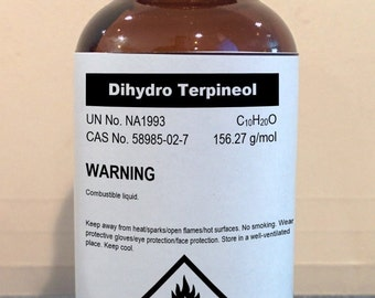 Dihydro Terpineol (Menthanol) Aroma/Flavor Compound High Purity 30ml, 120ml, 500ml