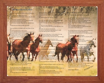 Australian Poem, The Man from Snowy River, Printable Wall Art, Inspirational, Motivational, Horses, Instant Digital Download,