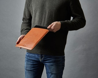 iPad mini Case, Leather Sleeve Cover, Handmade Slim Tablet Cover