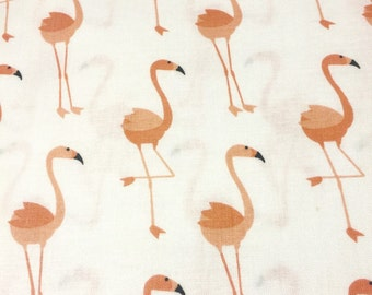 White Flamingo crib sheet