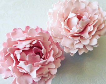 4 Fondant Peonies I 4 Gumpaste Peonies I Edible Fondant Flowers Edible Flowers Icing Flowers Wedding Cake Decoration