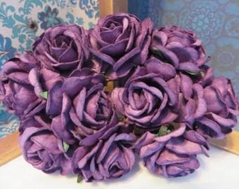 Purple paper Roses