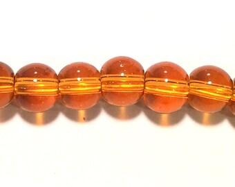 8mm Cola Brown Crystal beads 40/str